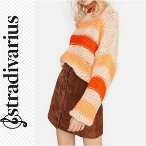 Stradivarius Striped Oversized Sweater Size sm